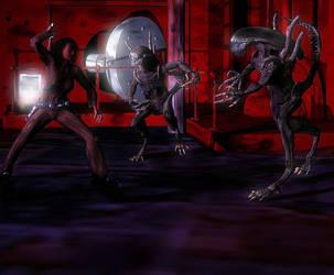 Aliens vs Gena 3 by ltyler01