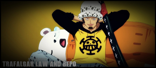 one piece trafalgar law and bepo by adonis90 on deviantart. Black Bedroom Furniture Sets. Home Design Ideas