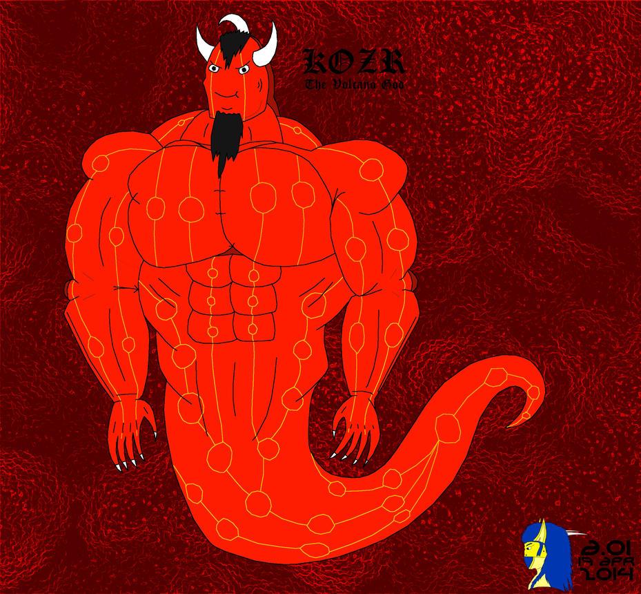 Kozr, the Volcano God by Irskaad