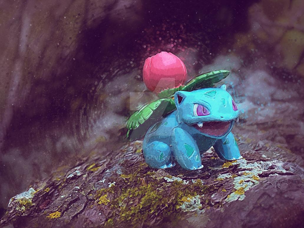 Pokemon Impressionism - Ivysaur by lydell-vik