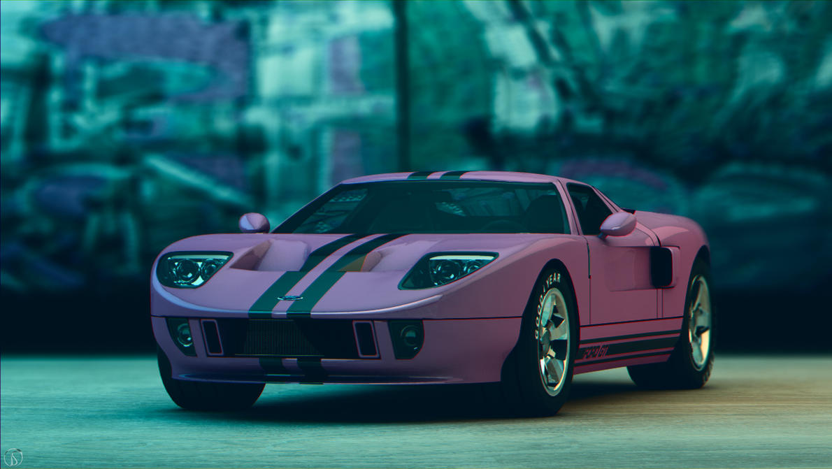 Ford GT Urban Pink by philphilos