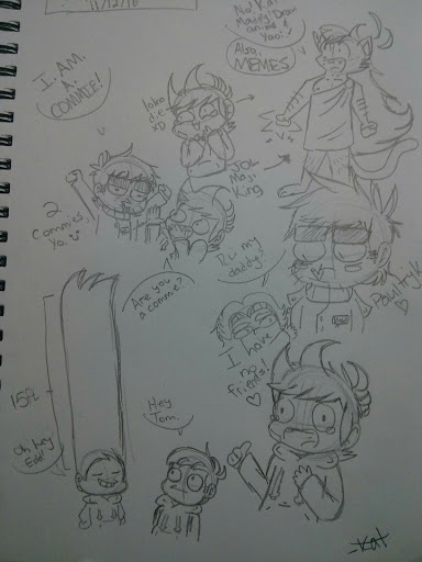 Another Eddsworld Sketchbook Dump w/ annoying pal by DeanEggs
