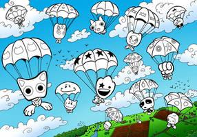 Gogo's Crazy Bones Skydiving by Dill-Tasker