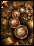 Gems between rusty iron