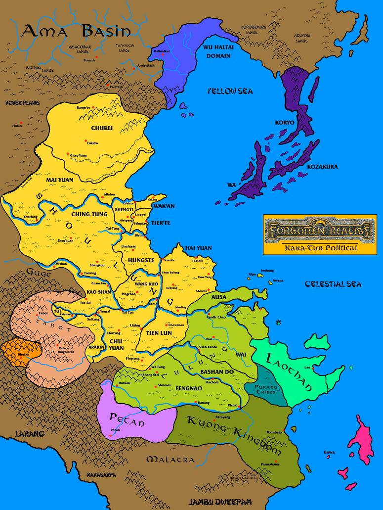 Kara-Tur geopolitical by Grimklok on DeviantArt
