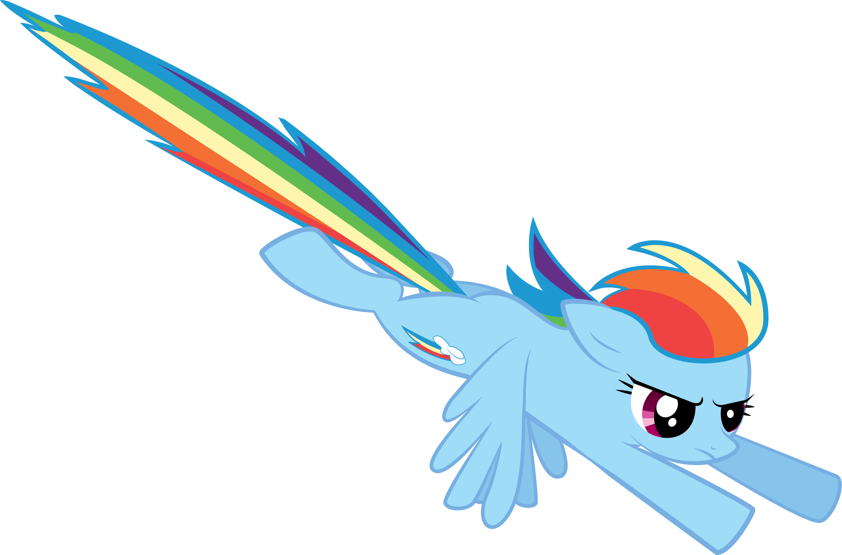 Rainbow Dash Flying From a Bird's Eye Perspective by ...