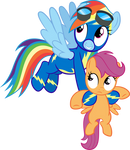 Rainbow Dash Fillynapping Scootaloo