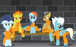 In Prison With Both Daring Do And The Wonderbolts by SpellboundCanvas