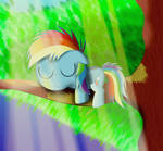 Dashie is the Master of Napping