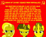 Soviet Equestia Propaganda by SpellboundCanvas