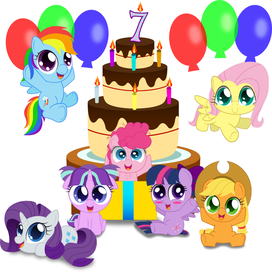 7th Anniversary of MLP by SpellboundCanvas