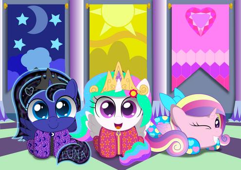 Celestia and Luna's Royal Slumber Party