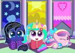 Celestia and Luna's Royal Slumber Party by SpellboundCanvas