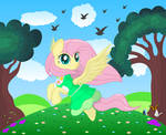 Fluttershy's Spring day by SpellboundCanvas