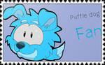 Puffle dog Fan (Stamp)