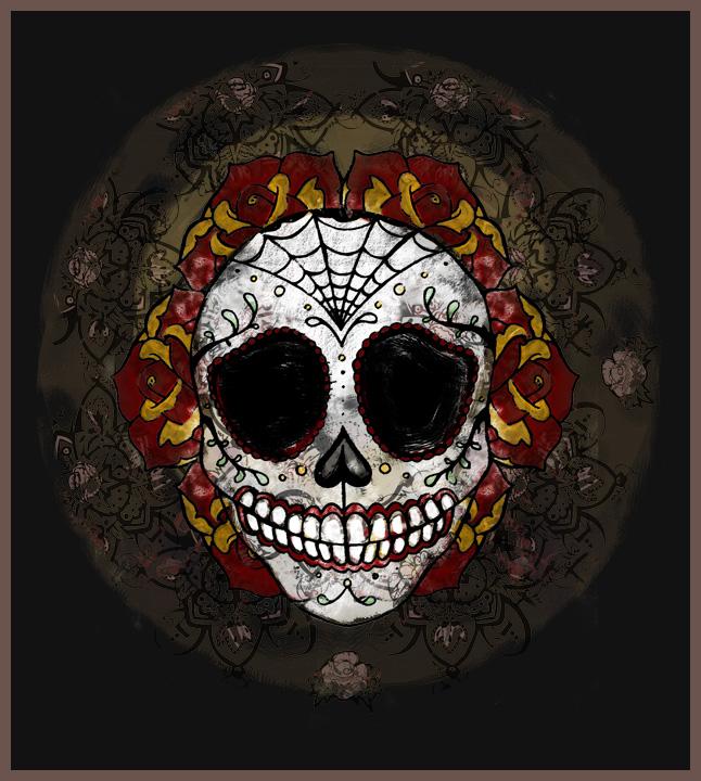 sugar skull by estrellelaluz03