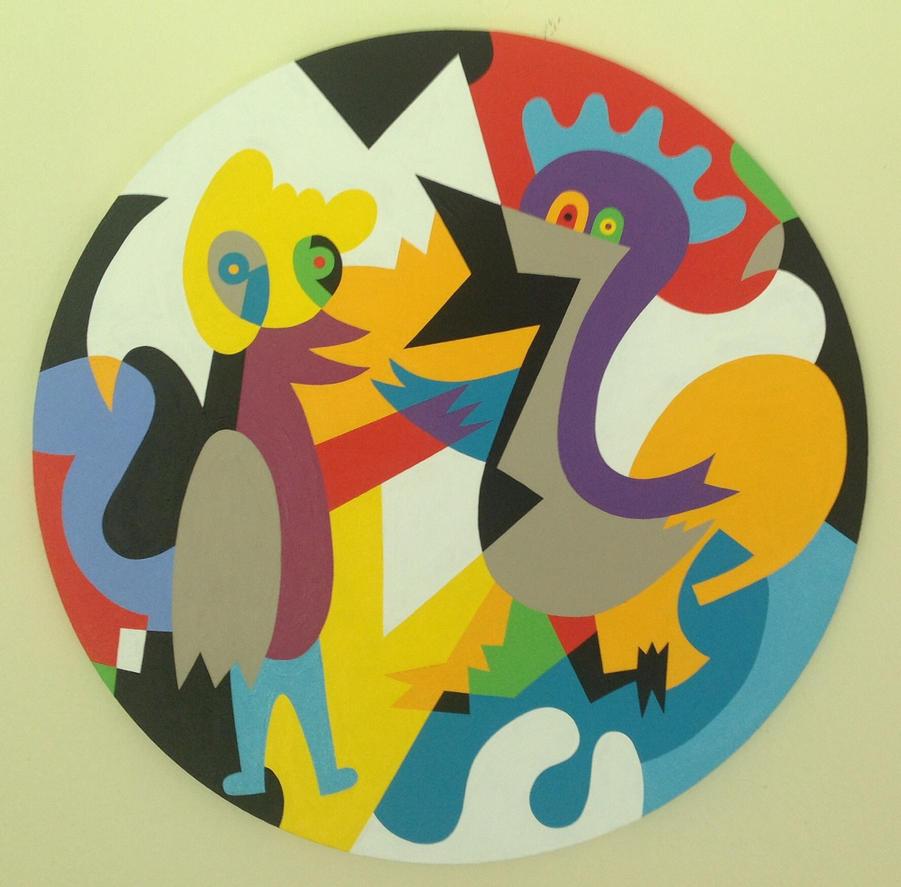 High Fiving Birds by Koerie
