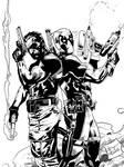 The Punisher and Deadpool Inks