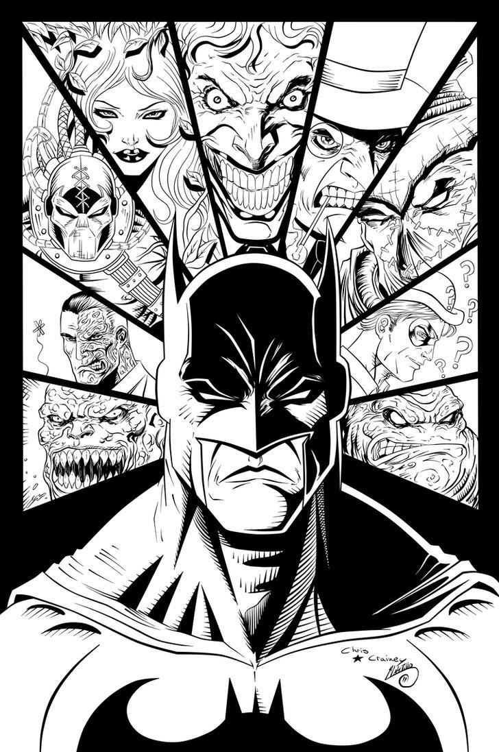 Batman And Villains Ink By Swave18 On Deviantart