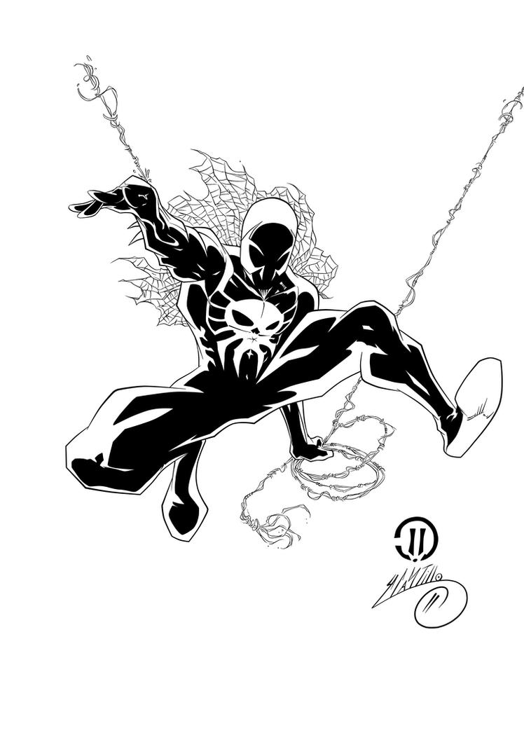 Spider man 2099 ink 1 by swave18 on deviantart for Spider man 2099 coloring pages