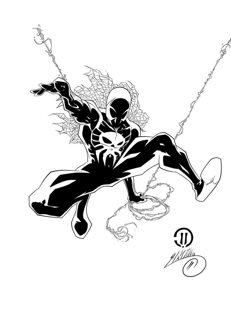 SpiderMan 2099 Ink  1 by SWAVE18 on DeviantArt