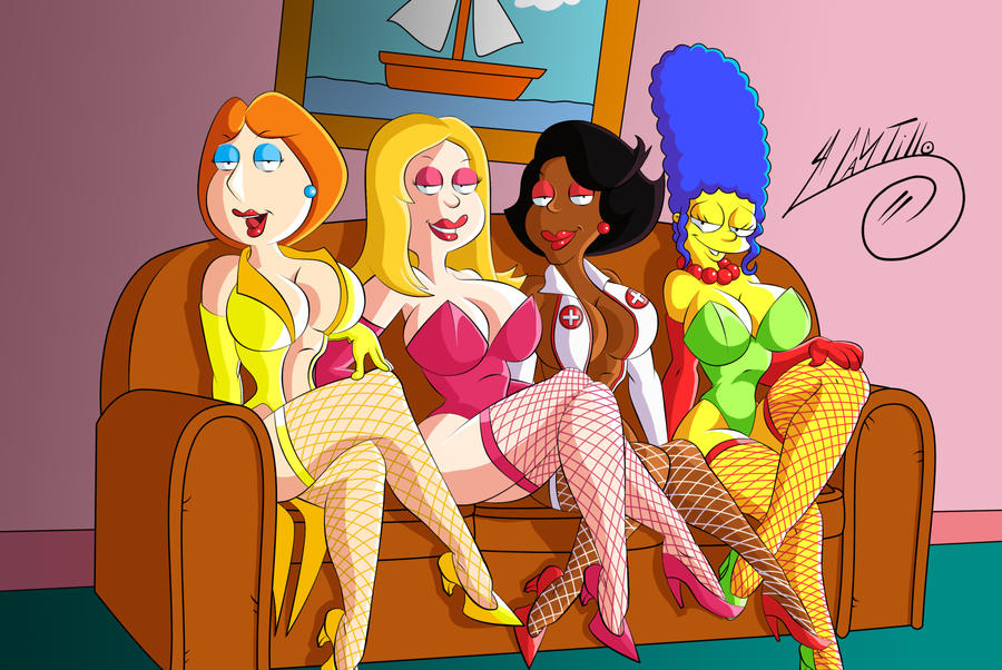 Lois, Francine, Donna, Marge Sexy Wifes by SWAVE18