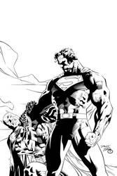 Batman vs Superman Ink #1 by SWAVE18