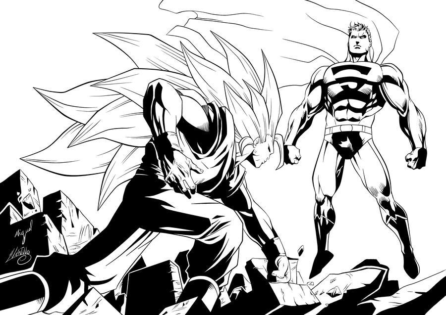 Goku vs Superman by SWAVE18 on DeviantArt