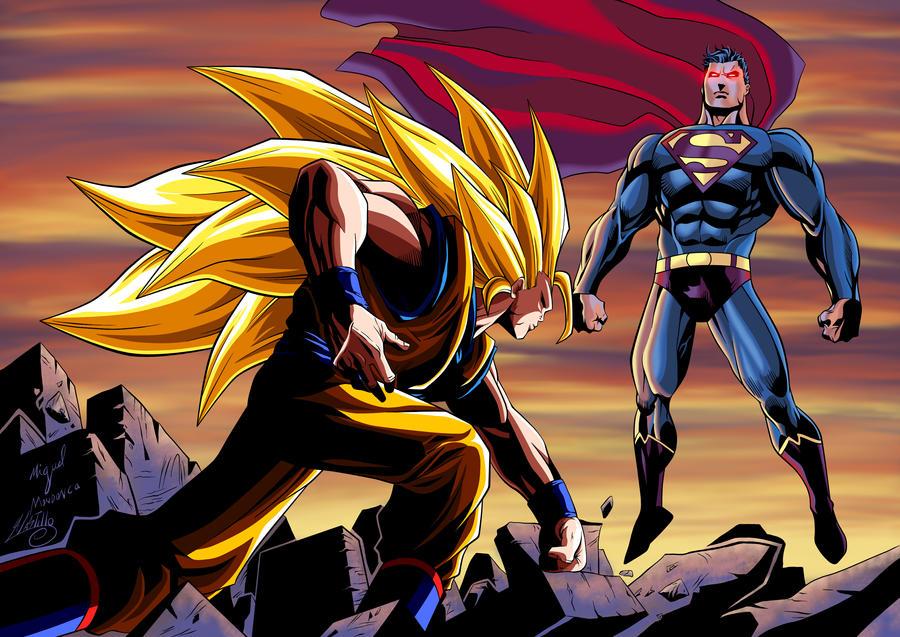 goku ssj3 vs superman -#main