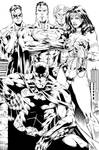 Batman, Wonder Woman, Superman, Flash and GL Ink