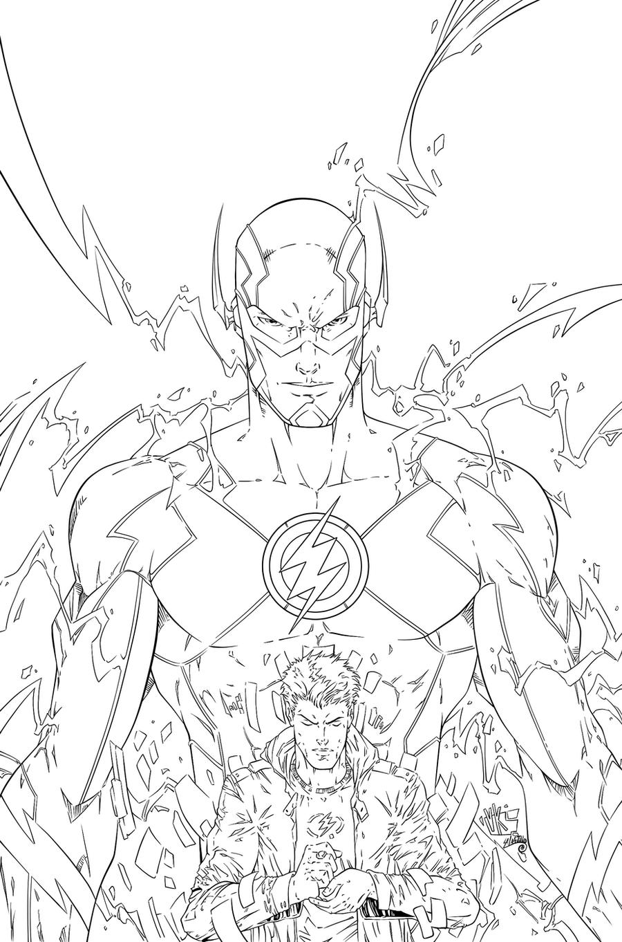 The Flash Ink 3 By Swave18 On Deviantart The Flash Coloring Pages