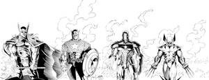Thor, Captain America, Iron Man, Wolverine Inks