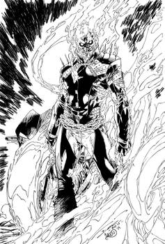 Ghost Rider Johnny Blaze Ink