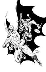 Batman VS Harley Quinn by SWAVE18