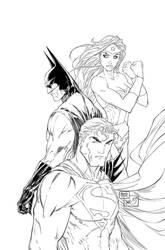 Superman, Batman, Wonder Woman Trinity Inks by SWAVE18