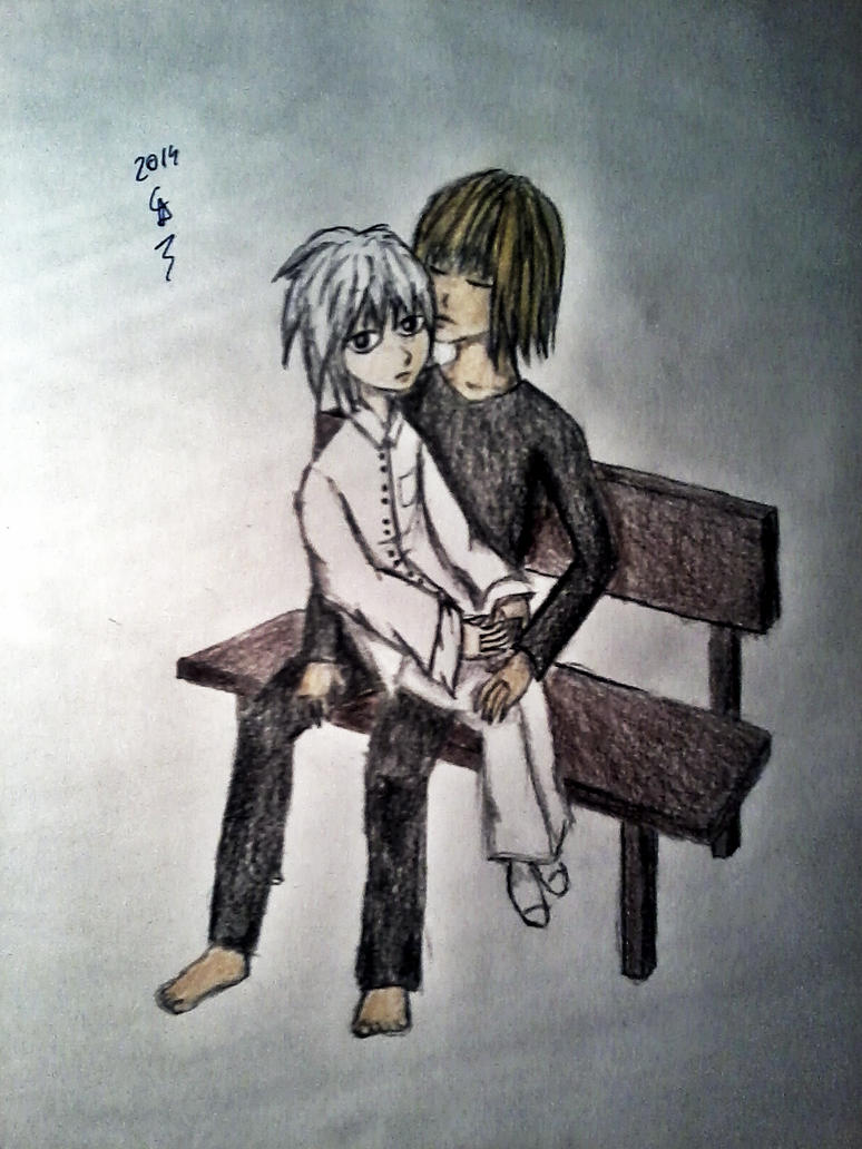 Mello fell asleep by Lonelinessxo3
