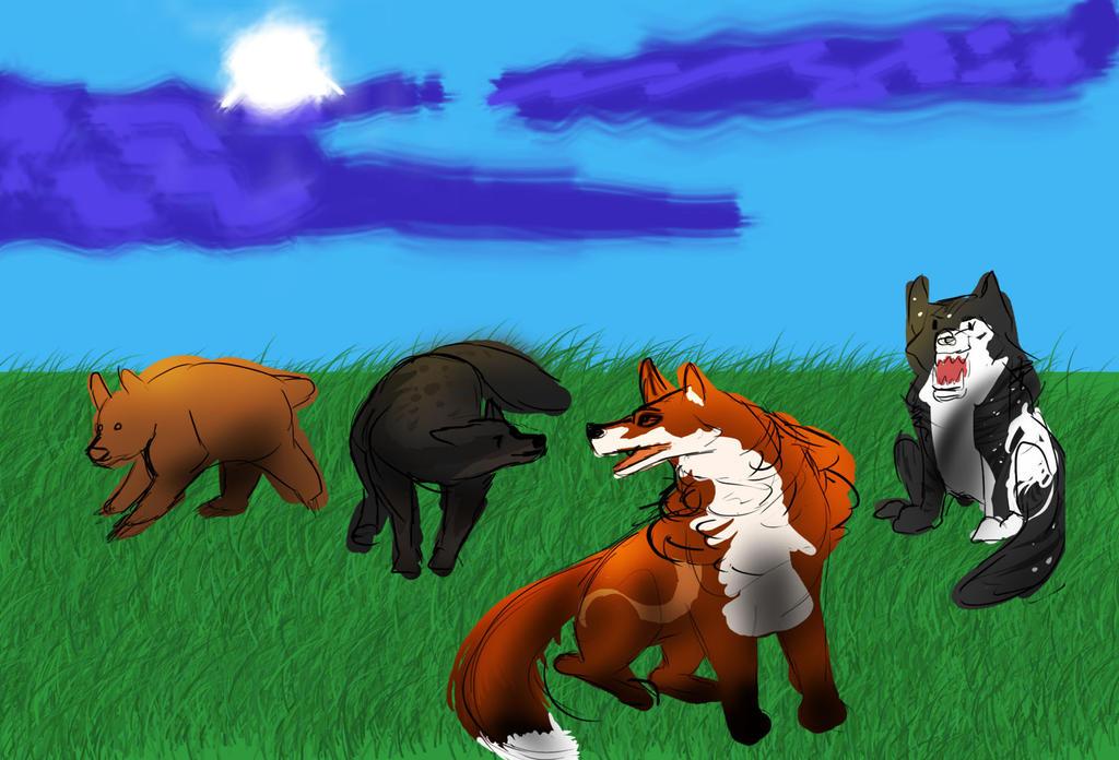 Hunting 2-2. 3 Tokotas by Dorosaury