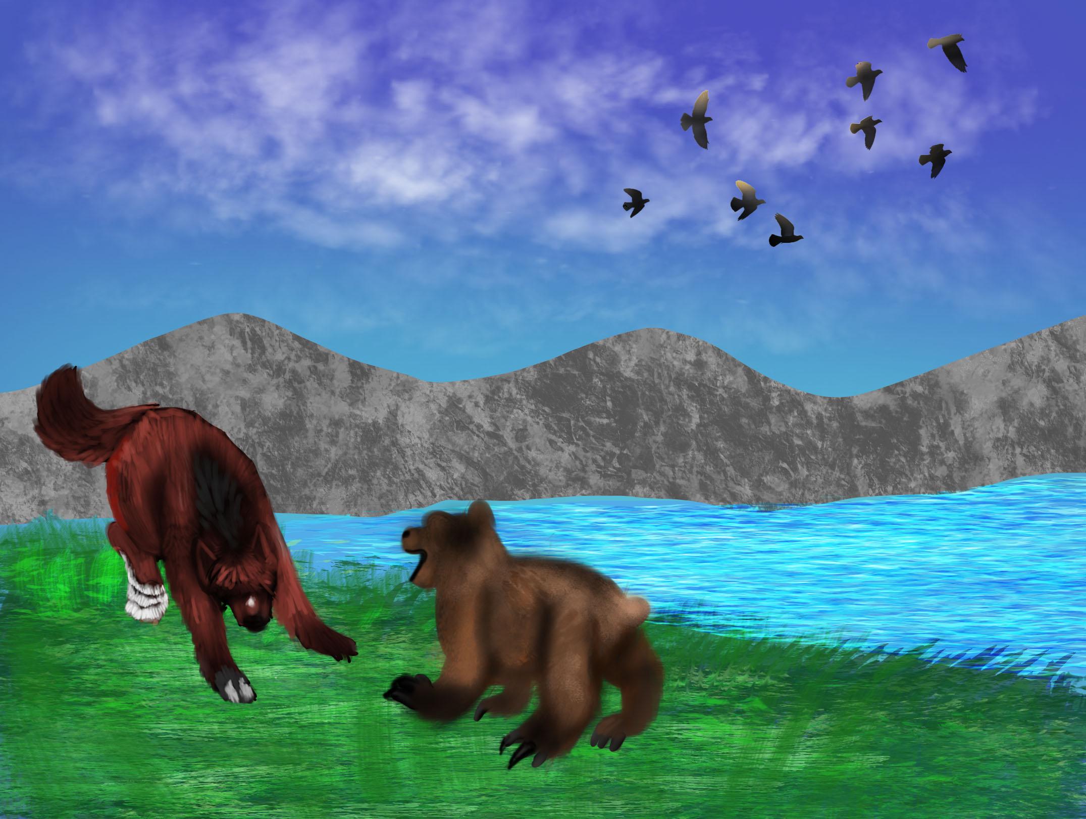 Rite  Of Merit,  bear hunt. by Dorosaury