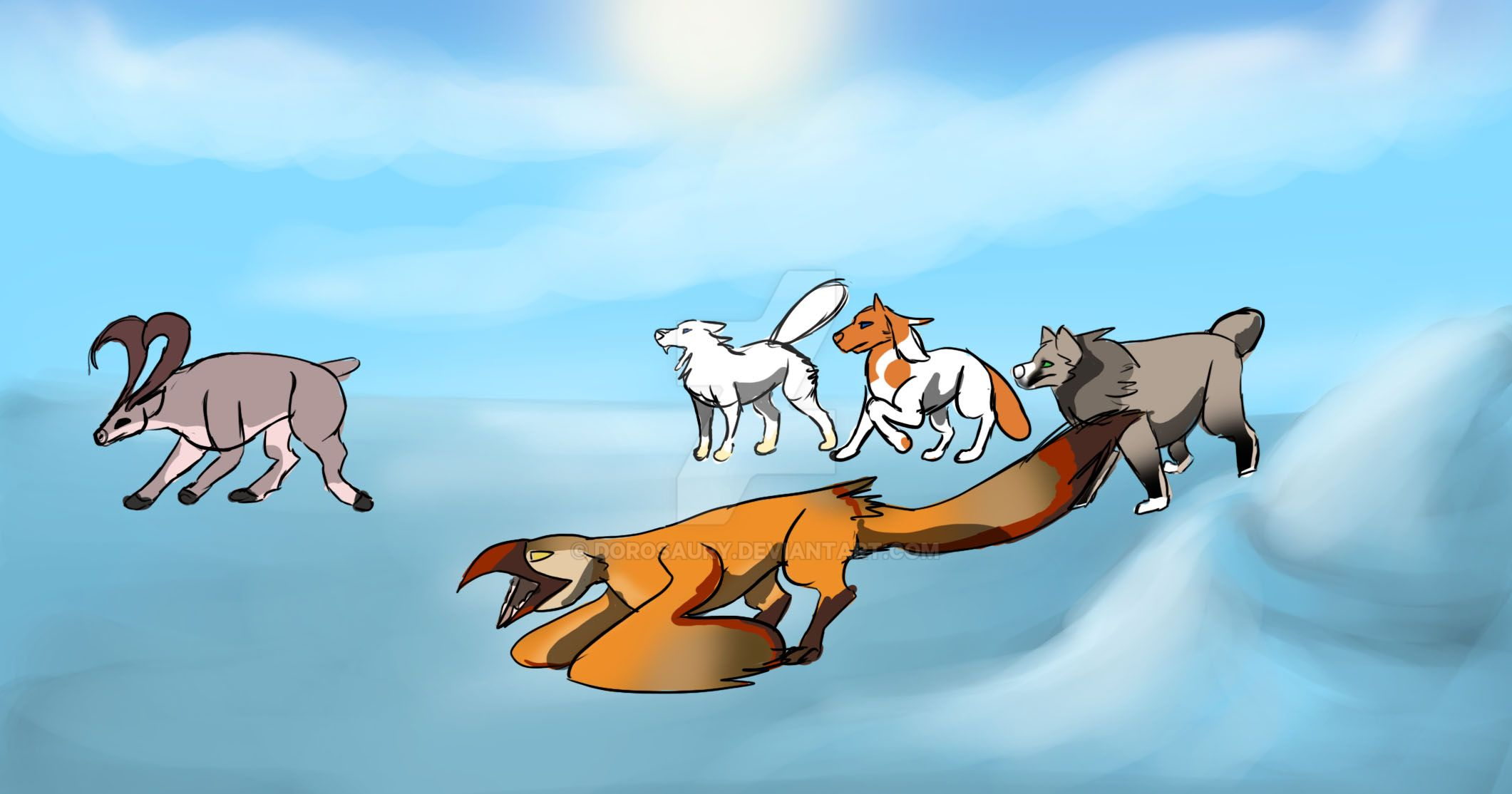 Toko And Stryx Hunt 4-4 by Dorosaury