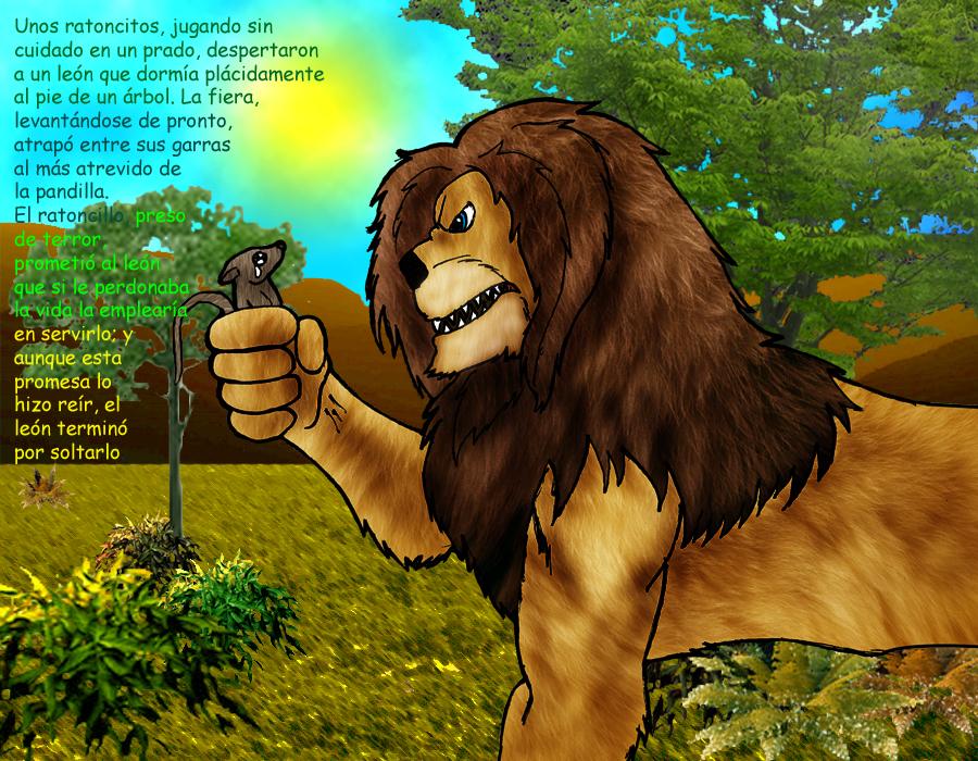 el leon y el raton, parte 1 by AresGodOfWarIres on DeviantArt