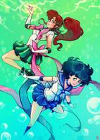 Sailor Mercury X Jupiter !! by oOCherry-chanOo