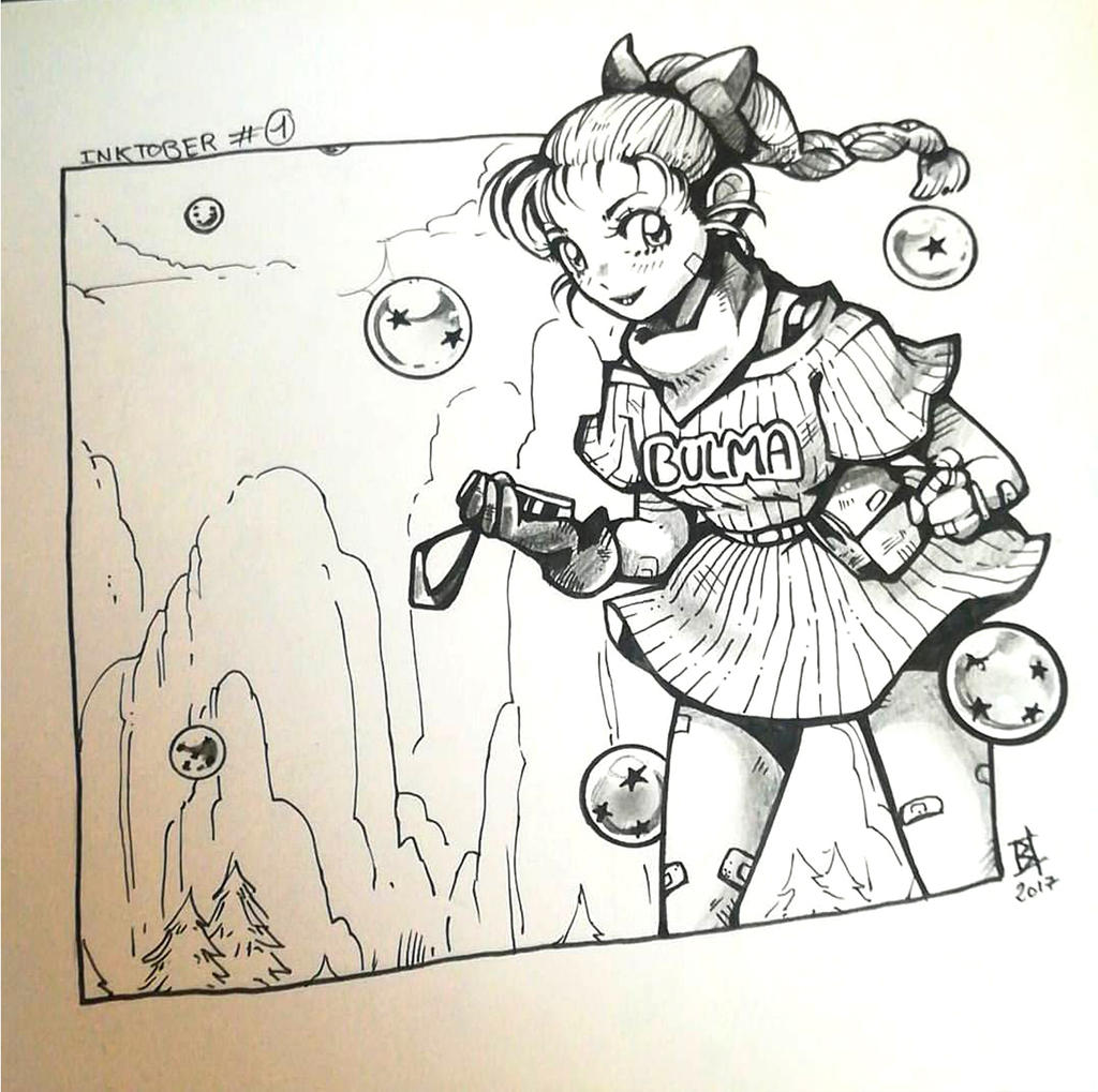 #Inktober - Day 01 BULMA by oOCherry-chanOo