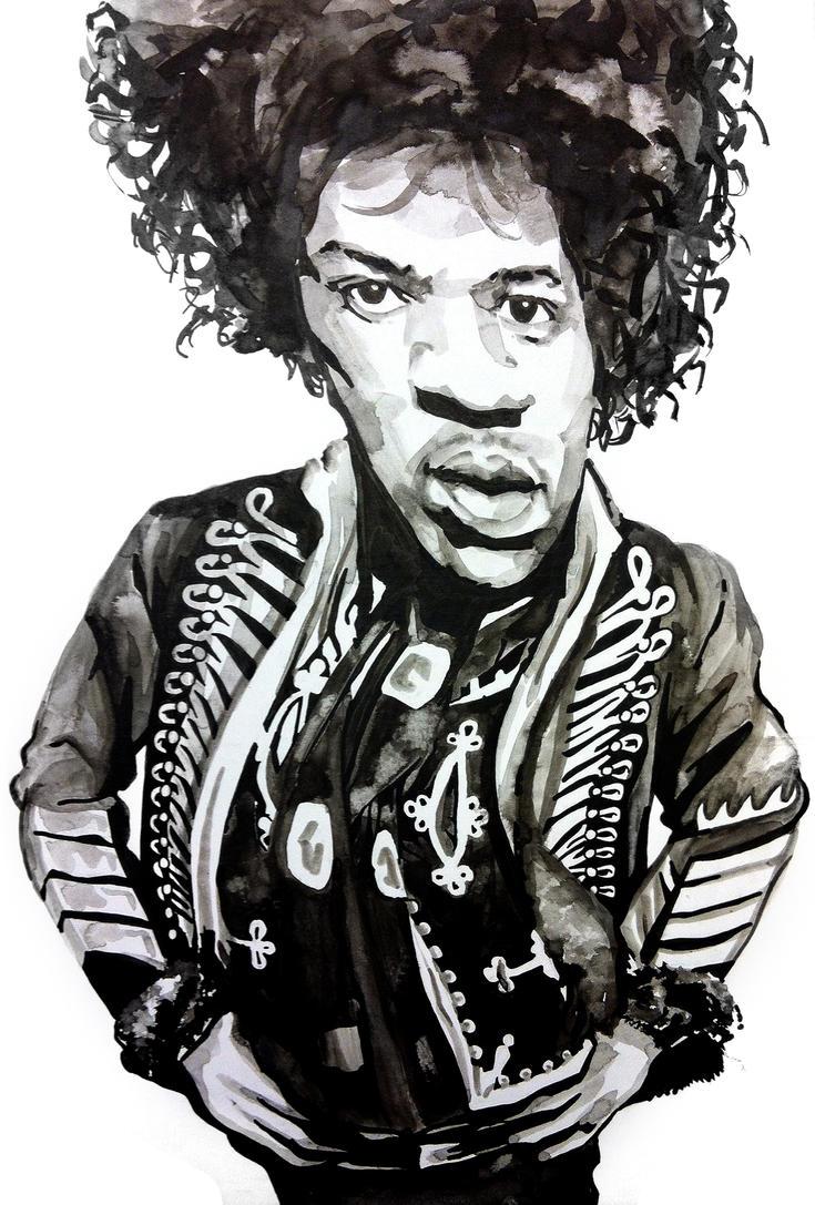 Jimi Hendrix by jonbruns