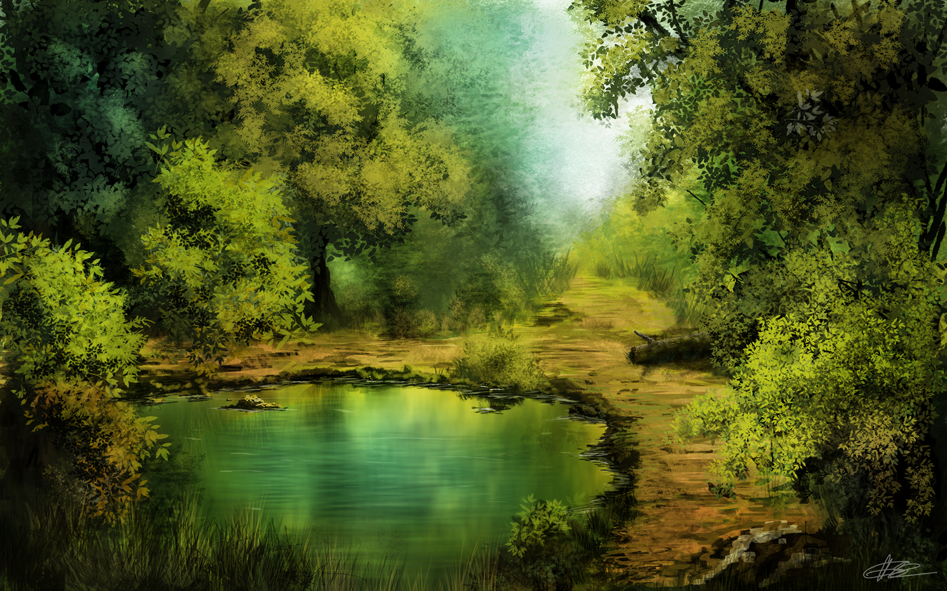 Forest Lake by odisz on DeviantArt