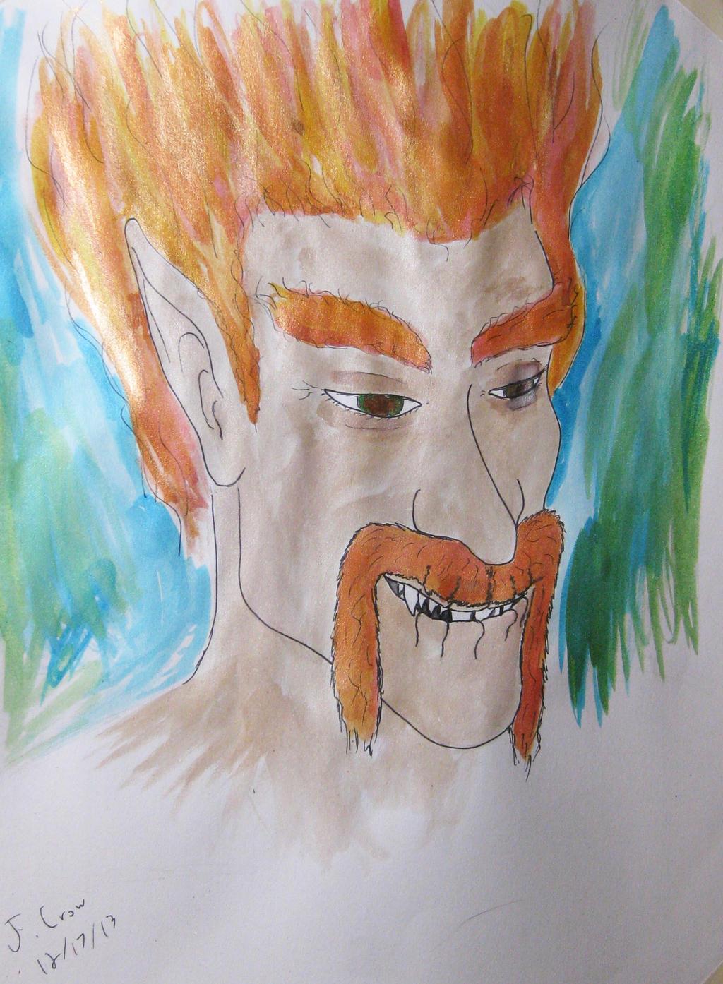 Loki-watercolor by JoeCrow9