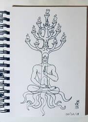 Meditating by JoeCrow9
