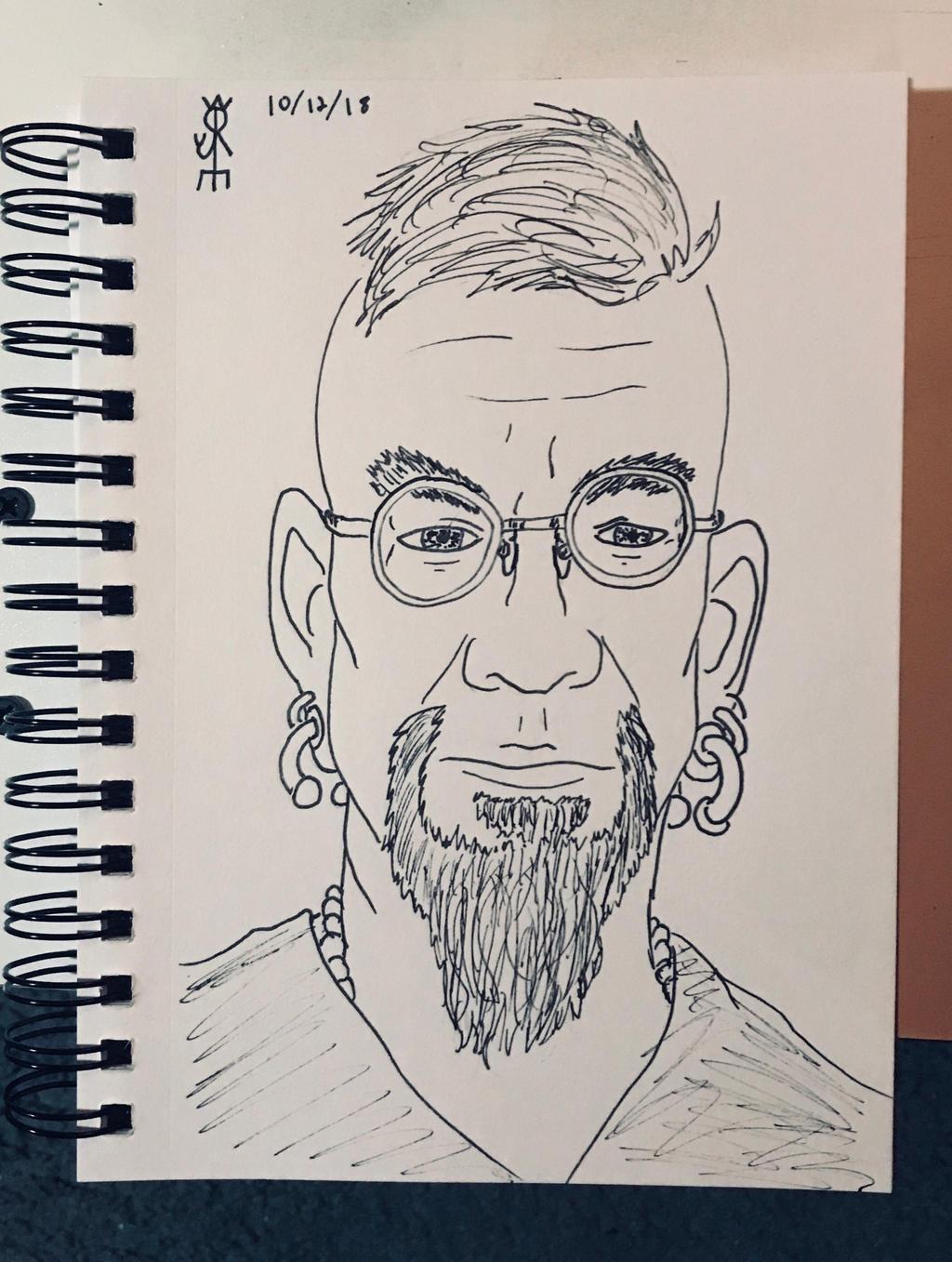 Self Portrait, Slight Return by JoeCrow9