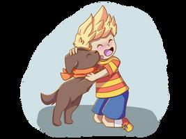 Lucas and Boney by eeveelover222