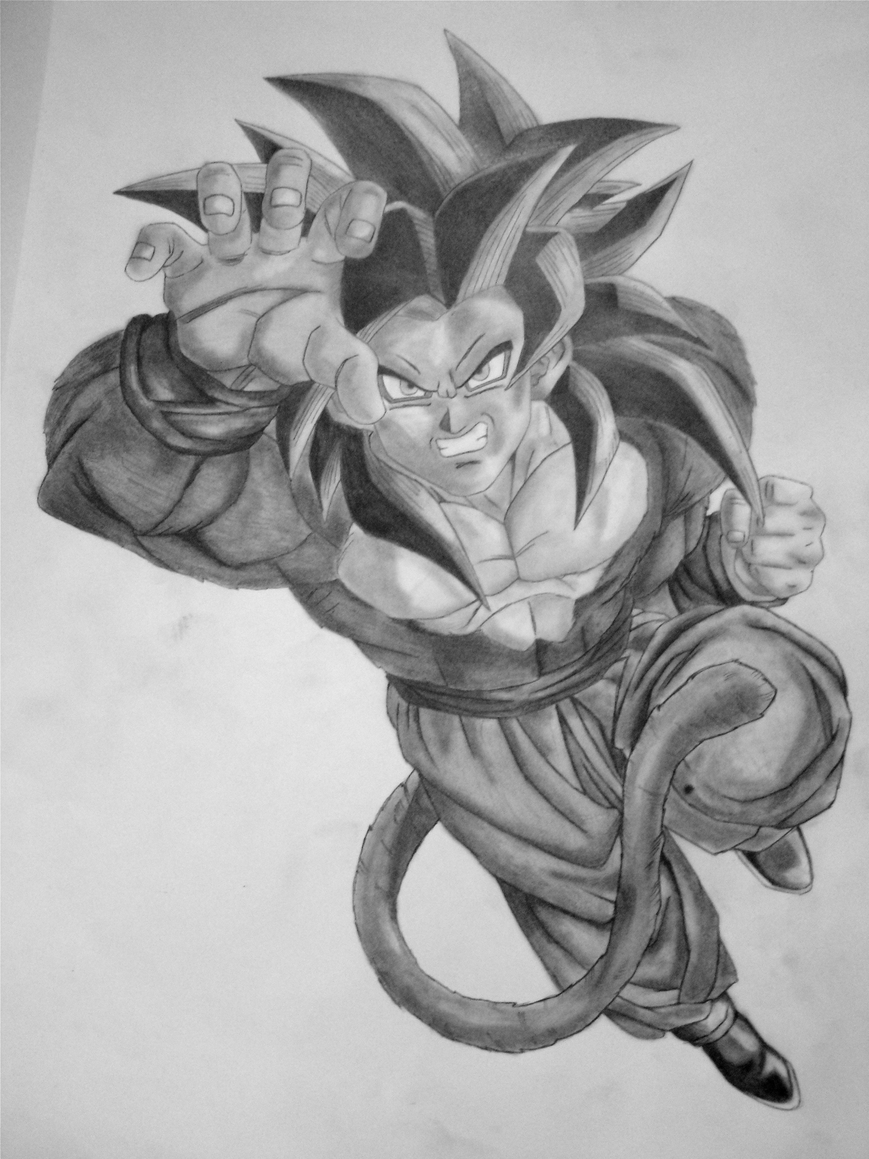 Easy Kid Vegeta Pencil Drawing