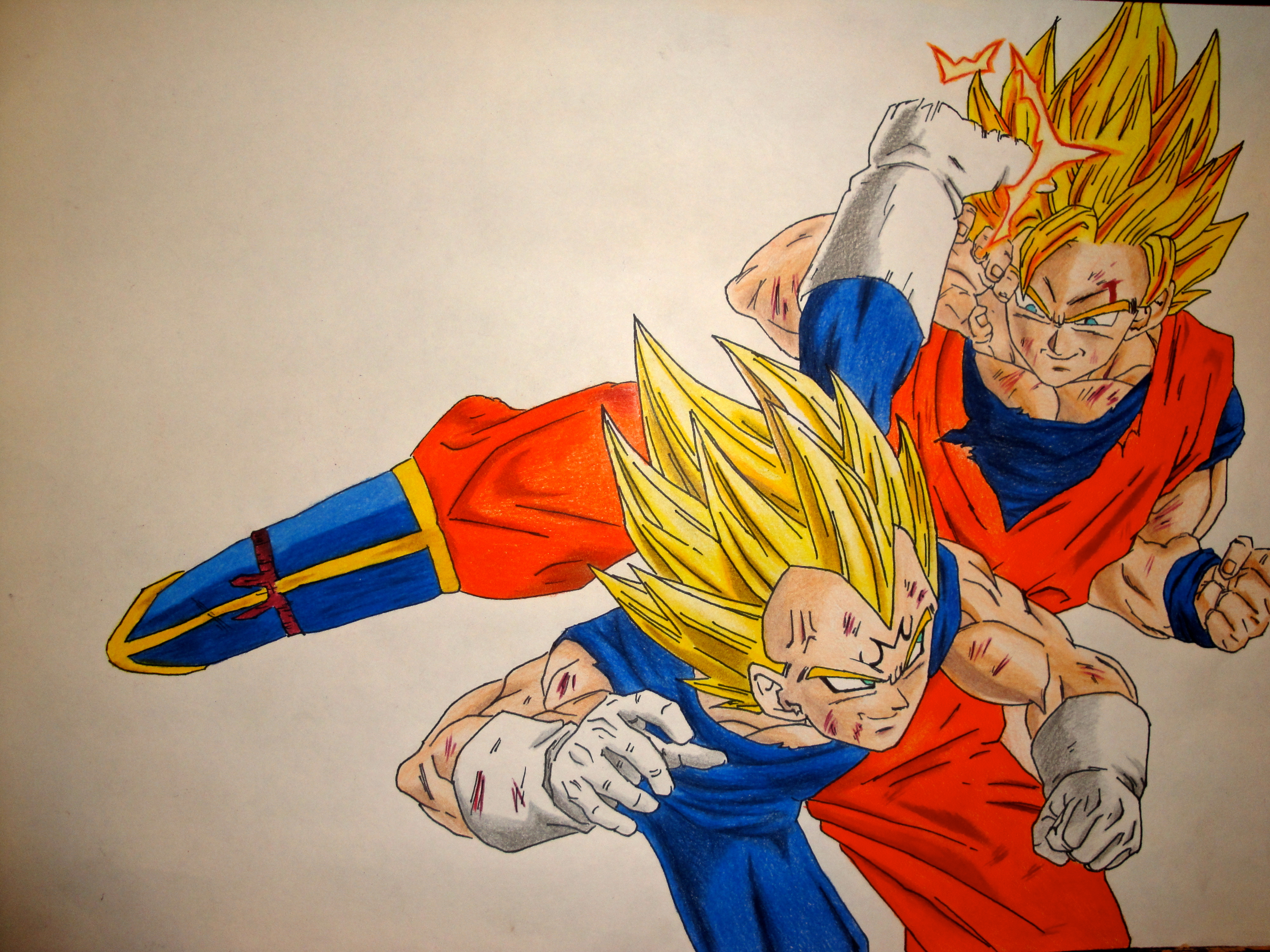 Vegeta Vs Goku By Manthanaaa On Deviantart